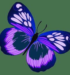 purple butterfly clipart [ 1559 x 1372 Pixel ]