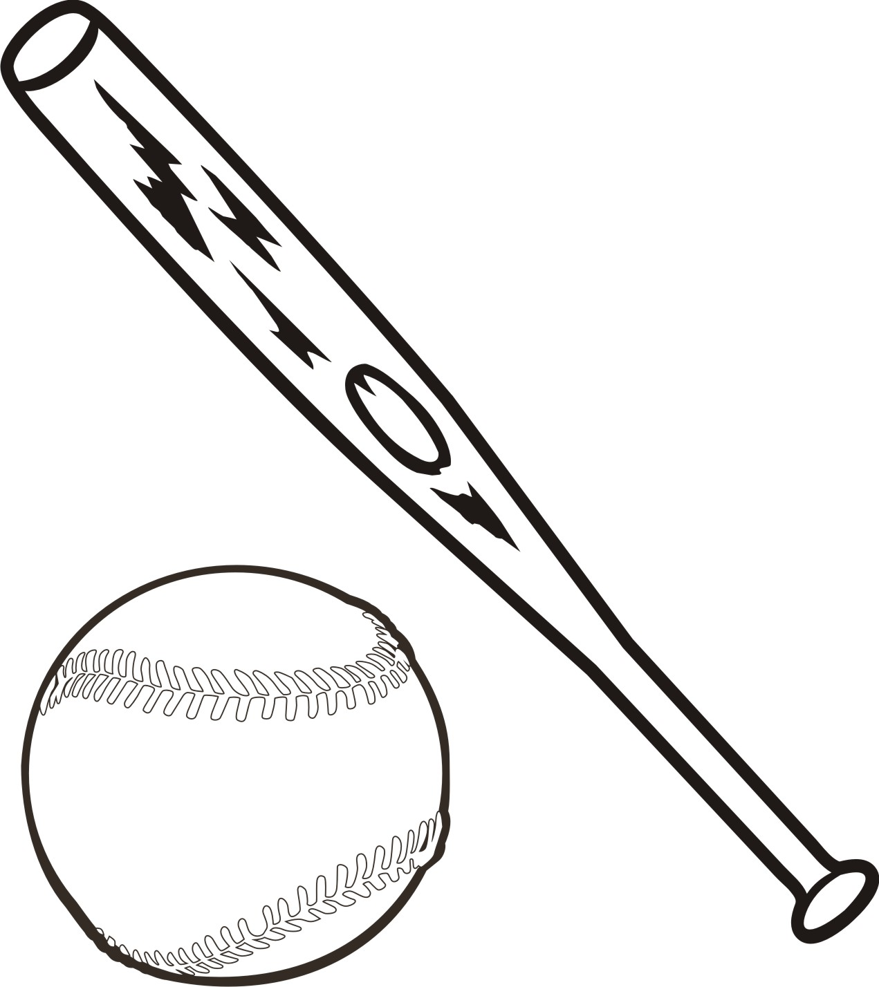 Baseball Bat Clip Art