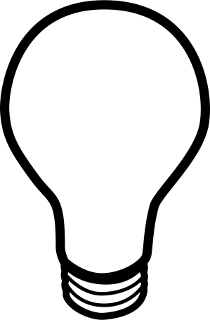 bulb clipart cliparts clip drawing easy lightbulb attribution forget link don projects thinking