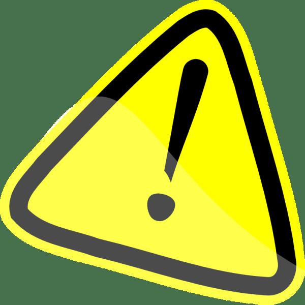 Clip Art Caution Sign