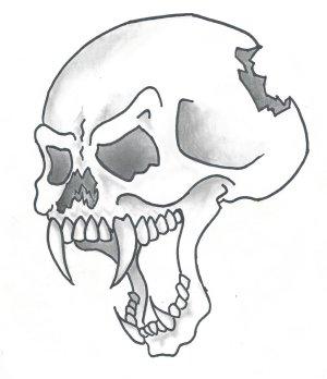 cool drawings easy cliparts simple skulls drwings