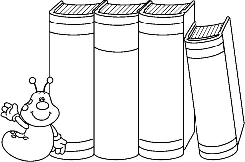 small resolution of school books clip art black and white gallery