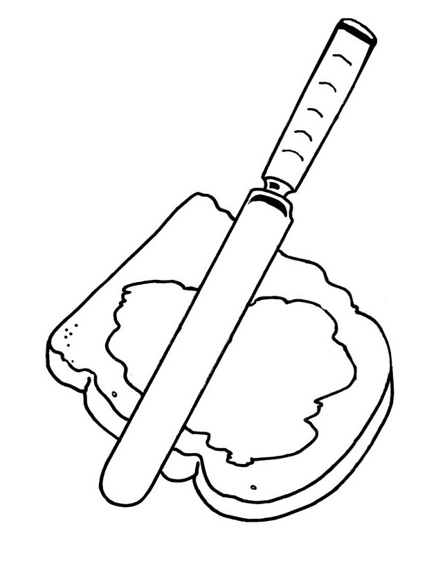making a sandwich coloring pages
