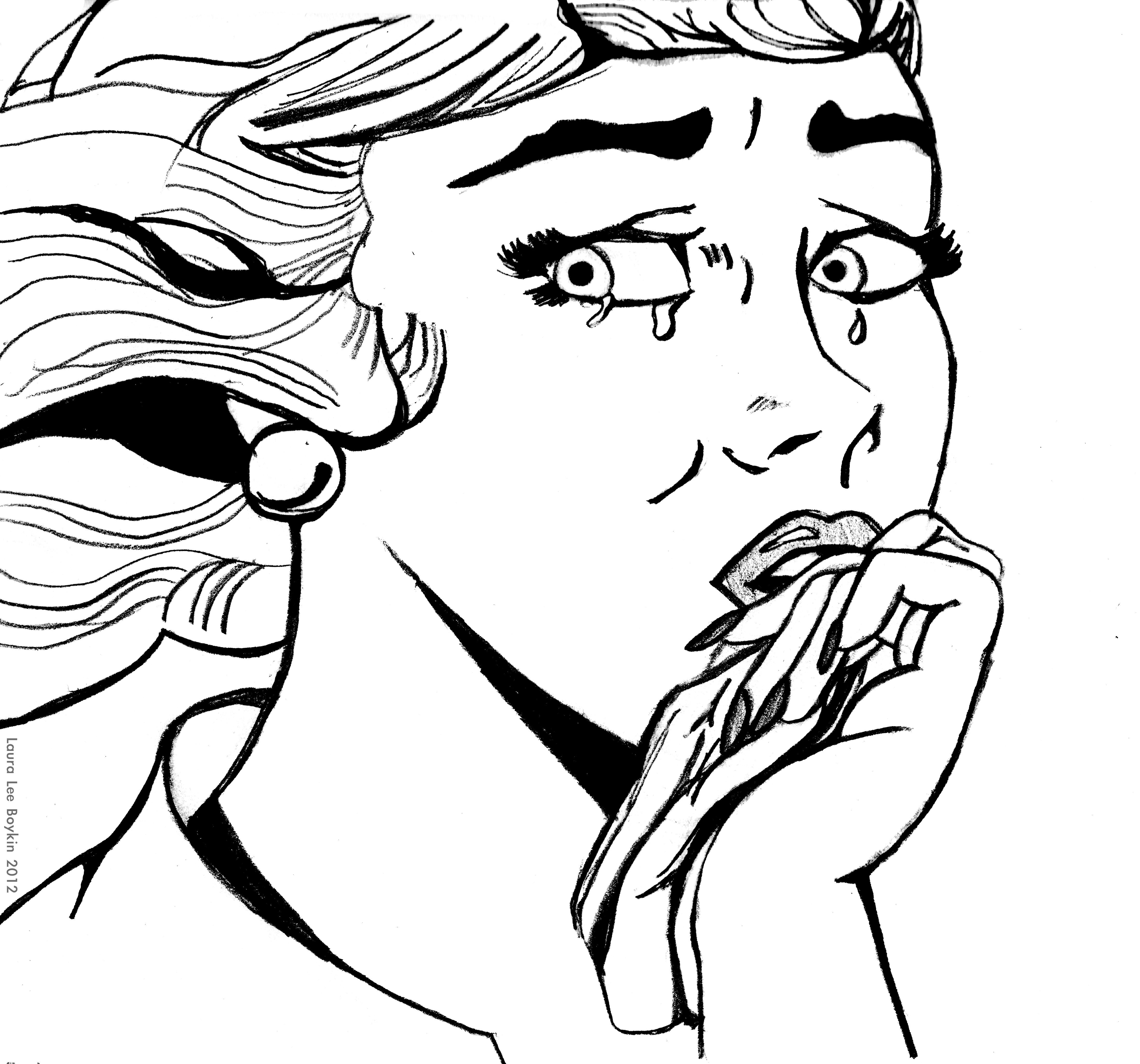 Crying Cartoon Girl