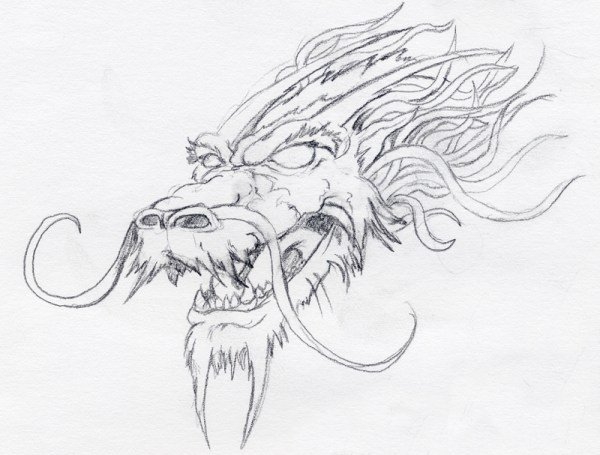 Chinese Dragon Drawing Clipartsco