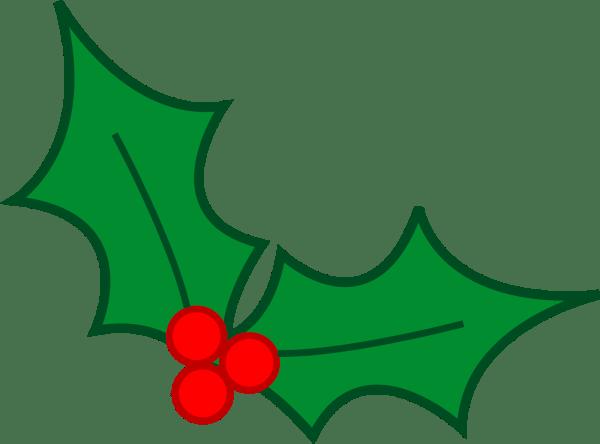 Christmas Holly Leaves Clip Art