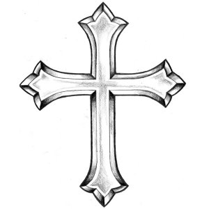 crosses cool draw cross cliparts drawings simple outline sketch sketches designs clip patterns god attribution forget link don