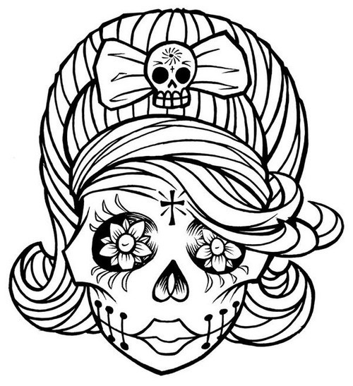 pin up girl coloring pages  cliparts.co