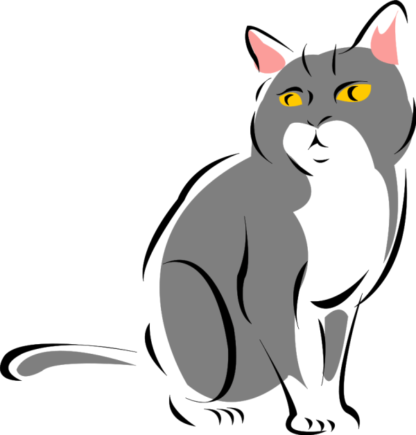 Free Black Cat Clip Art