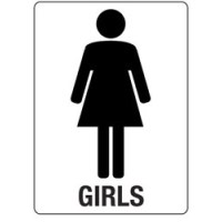 Girls Bathroom Sign - Cliparts.co