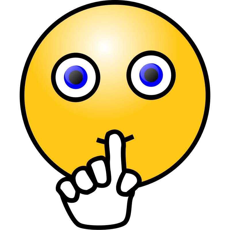 Clipart - Emoticons: Silence face