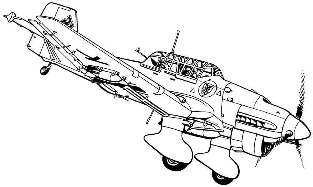 Wwii Army Plane Coloring Page Coloring Pages