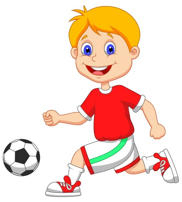 Cartoon Kid Football Player