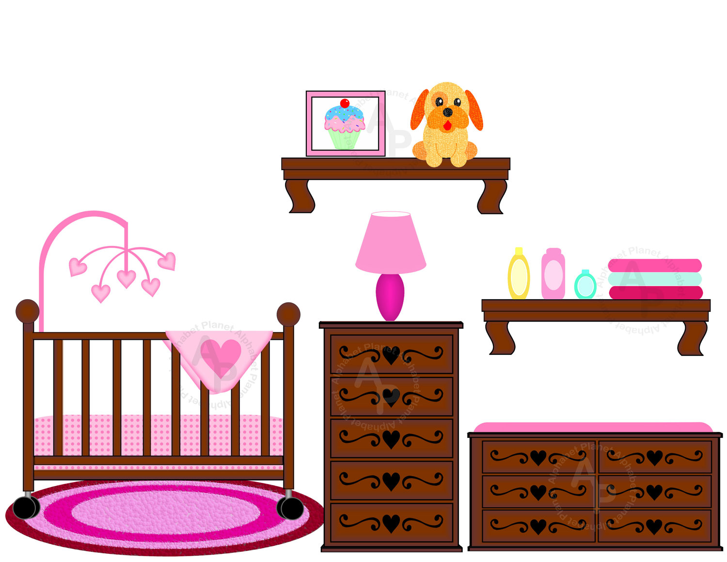 hight resolution of baby crib clipart