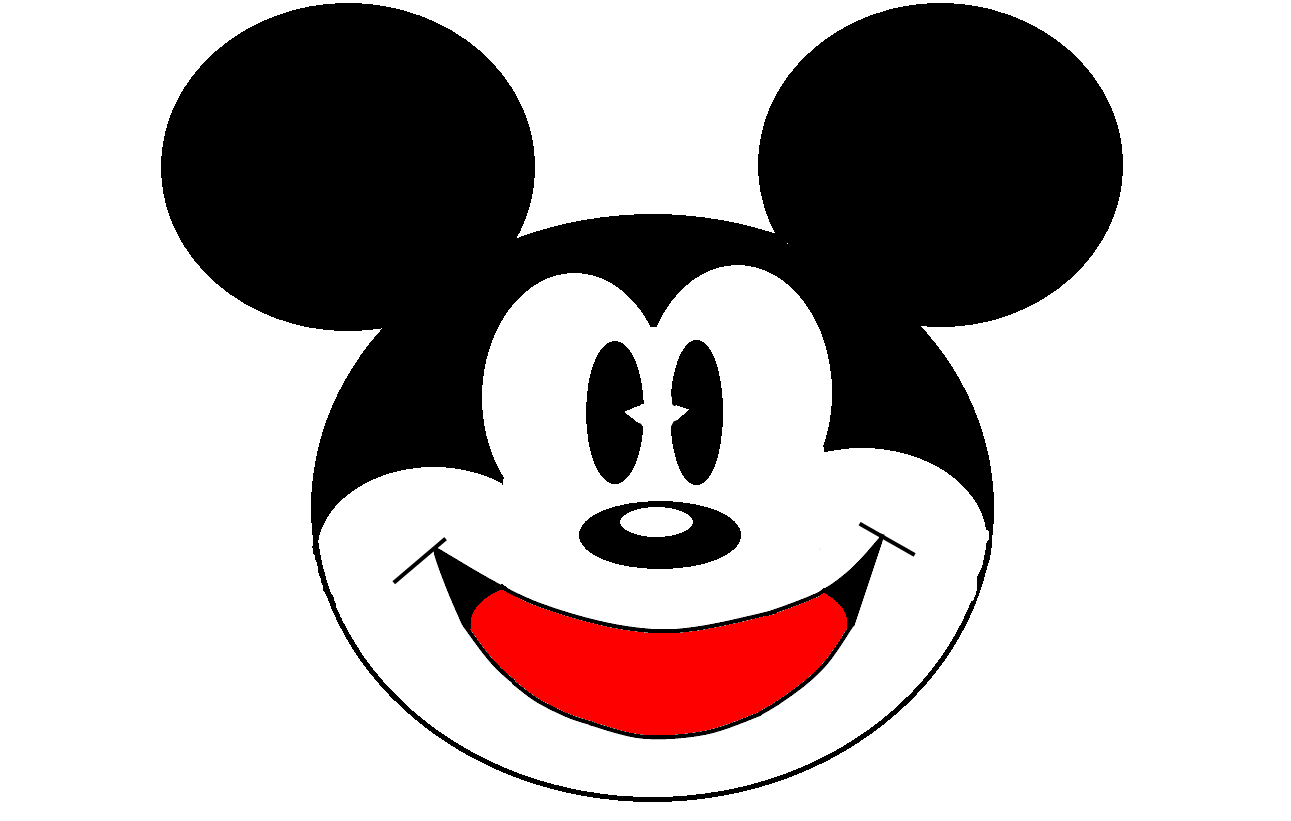 Mickey Mouse Body Parts Template 9 Clipart