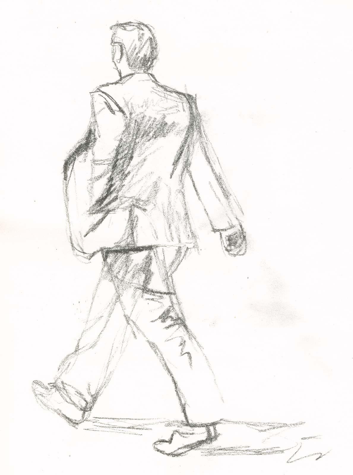 Walking Man Drawing