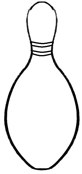 Bowling Pin Template - Clipartsco