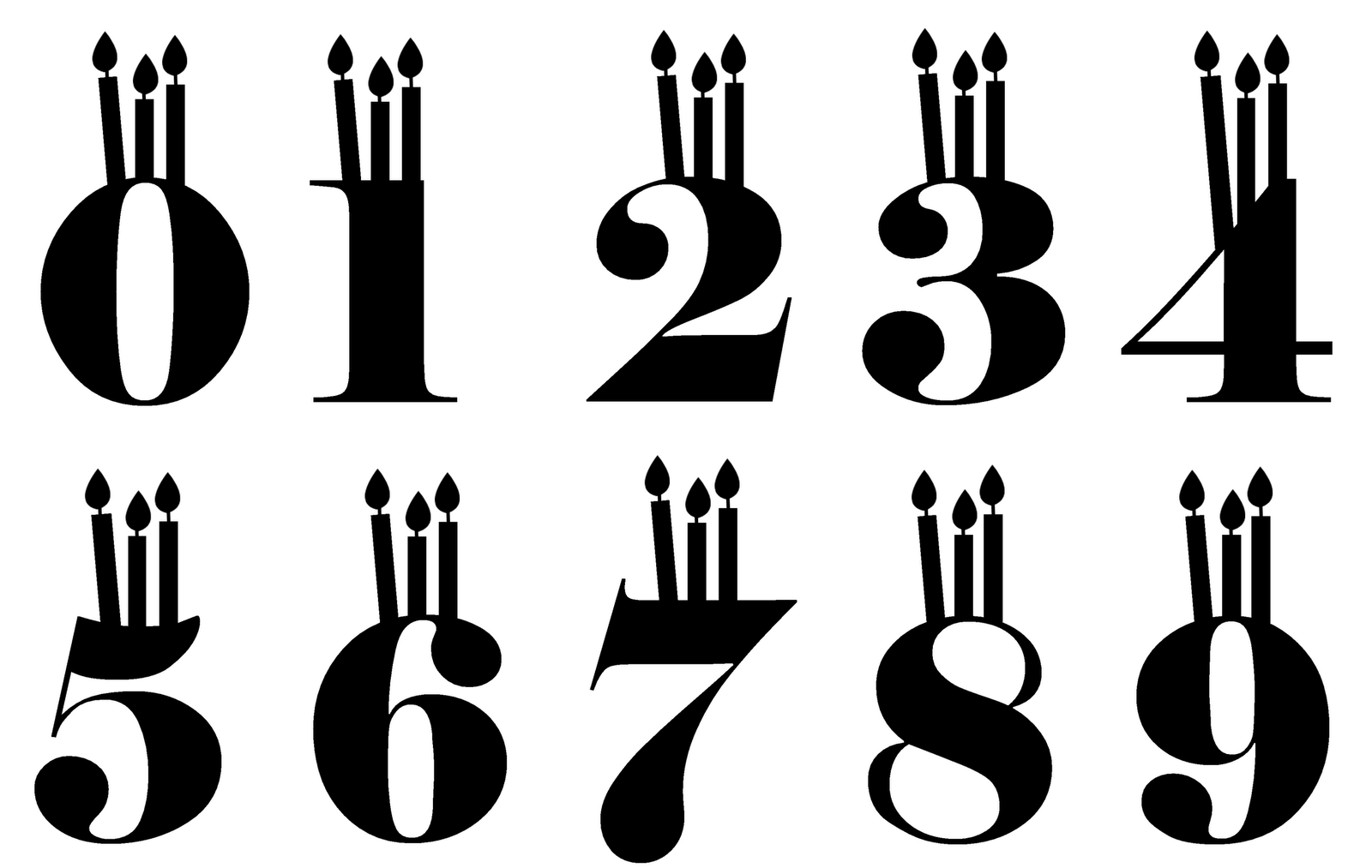 Birthday Candle Font