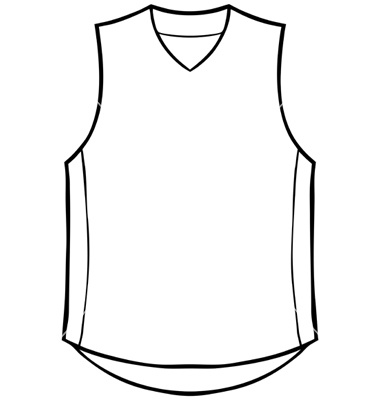 Blank Basketball Jersey Template Sketch Coloring Page