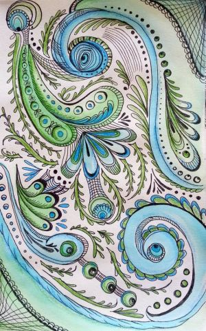 peacock drawing pencil pen mixed ink pattern paisley colored doodle zentangle watercolor drawings inspirations colorful peacocks pens simple cliparts watercolour