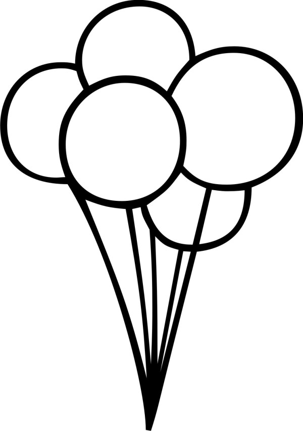 black and white balloon clip art