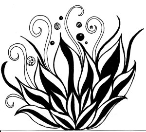 lotus flower simple drawings drawing flowers pen line easy cool draw clipart cliparts outline clip ink army designs abstract illustration