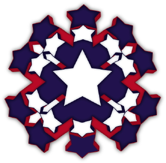 red white and blue stars clipart