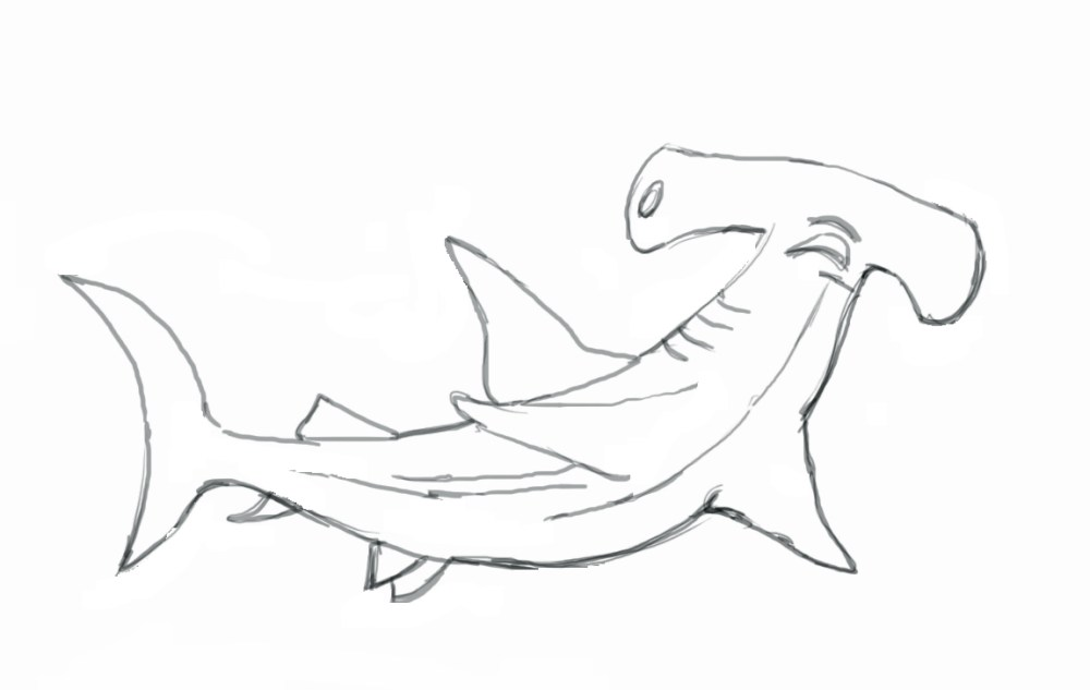 medium resolution of hammerhead shark clipart black and white gallery