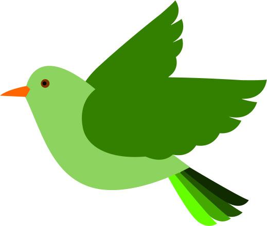 clip art flying bird