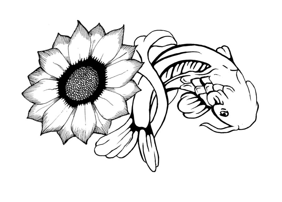 Sunflower Line Art Images