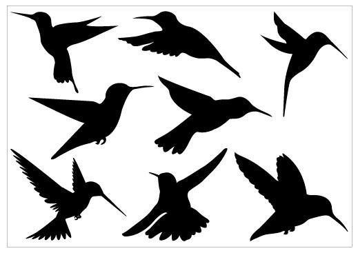 hummingbird silhouette - clipart
