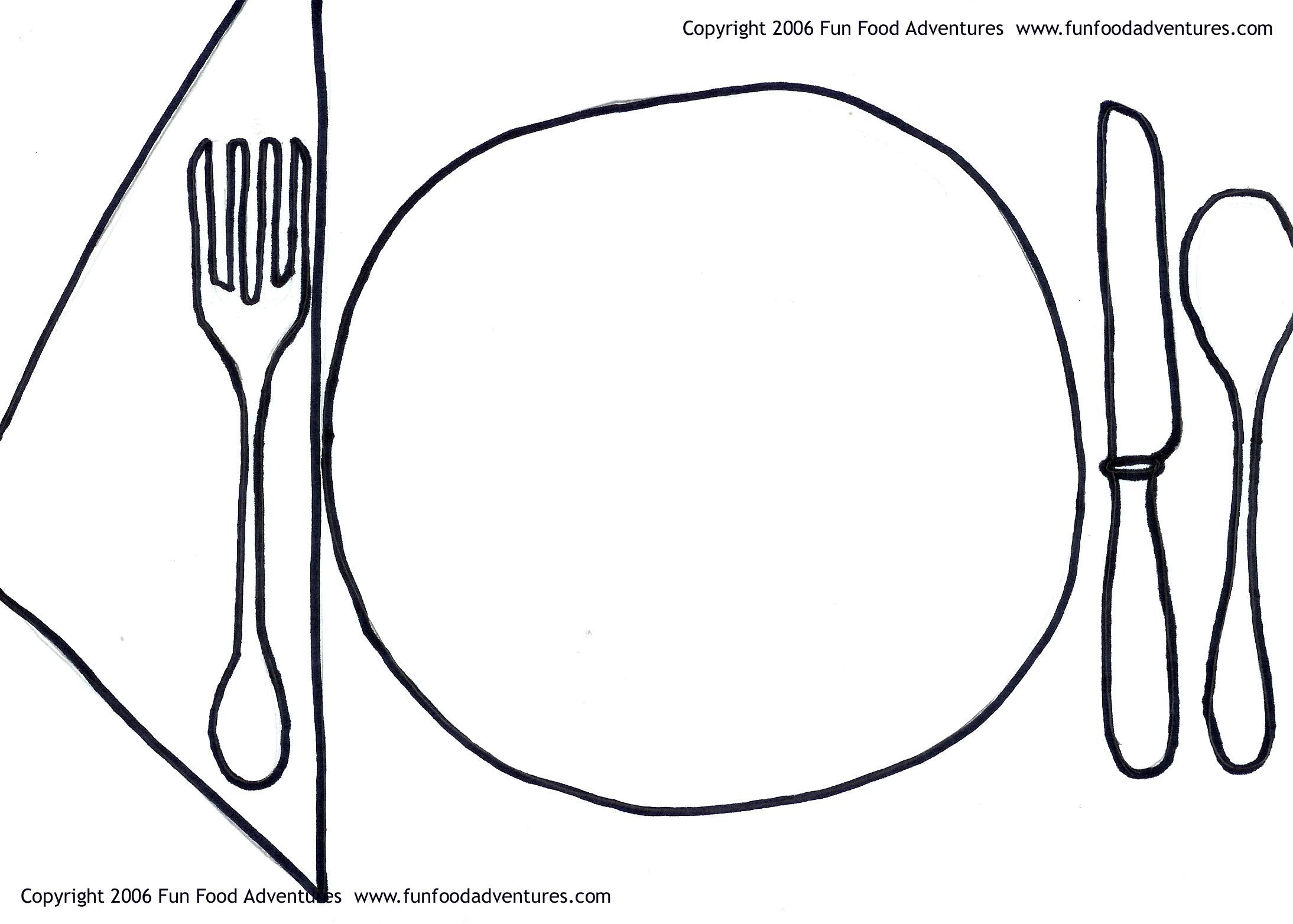 Cartoon Dinner Plate
