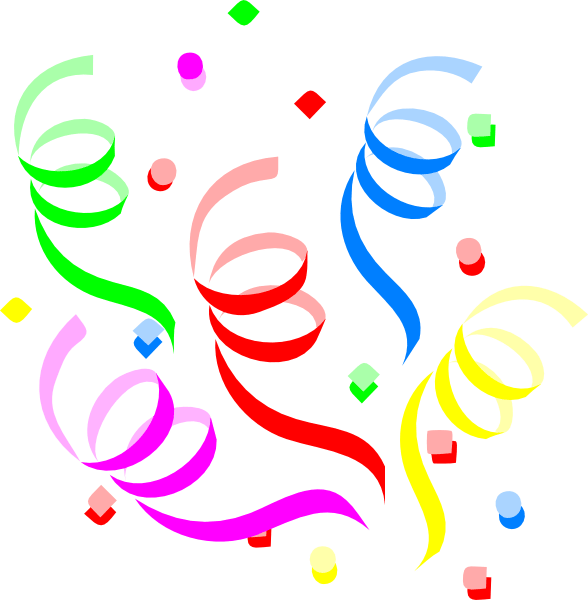 streamers clipart