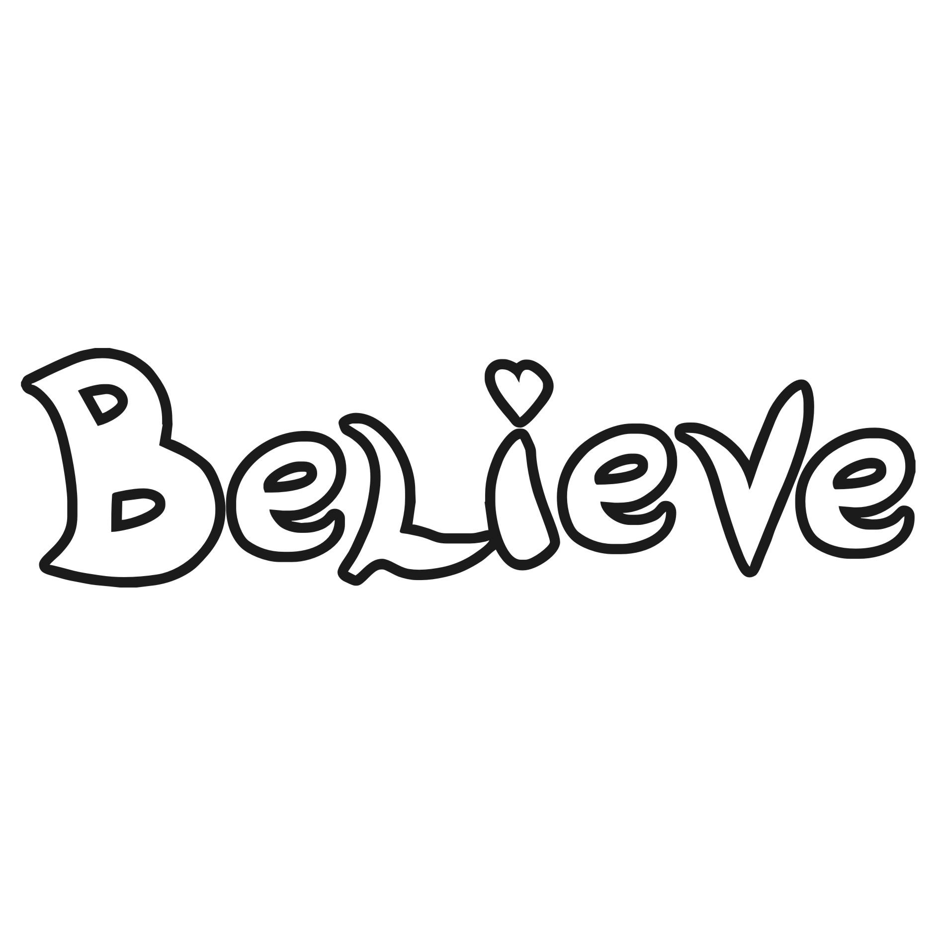Believe Clip Art
