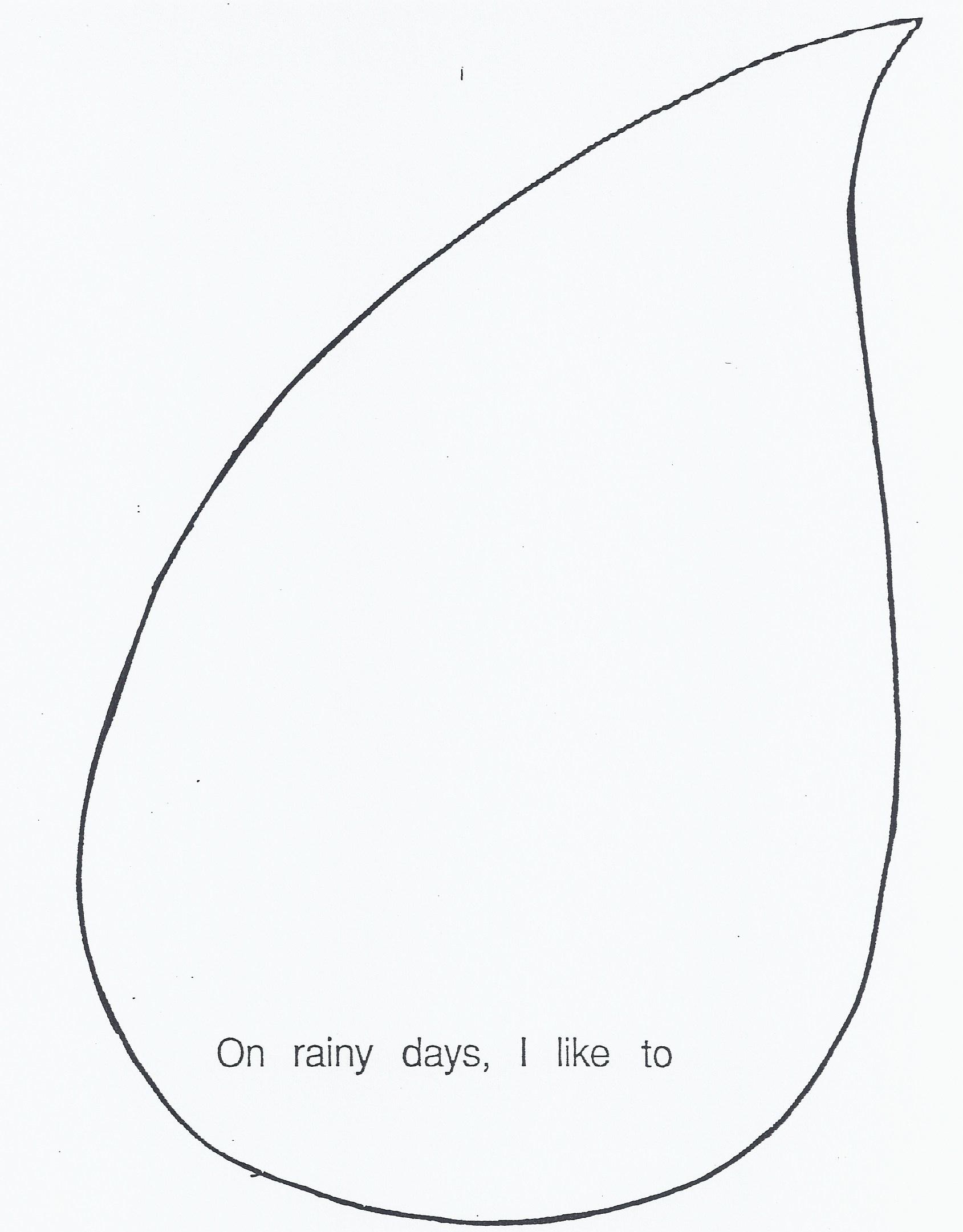 Printable Raindrop Template