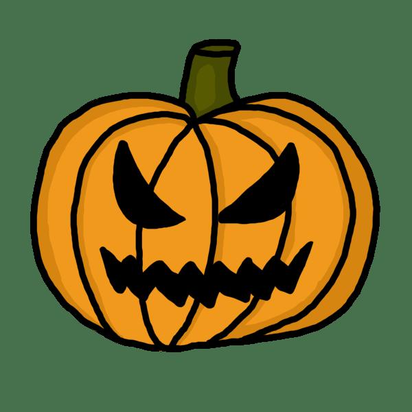 scary pumpkin clipart
