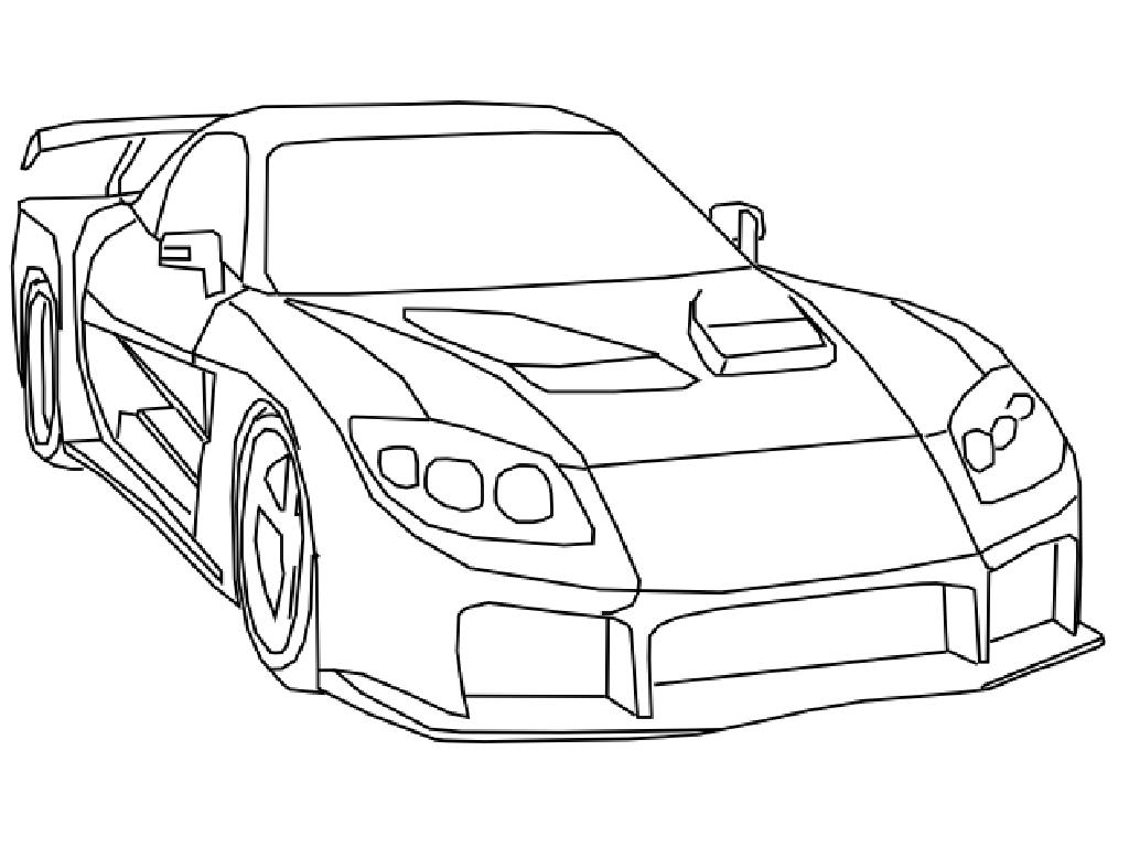 Free Coloring Pages Of Draw A Drift Car