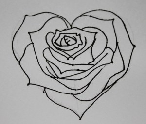 heart drawing rose drawings hearts easy roses draw designs graffiti pencil cool cliparts simple attempt beginners banners outlines outline tattoo
