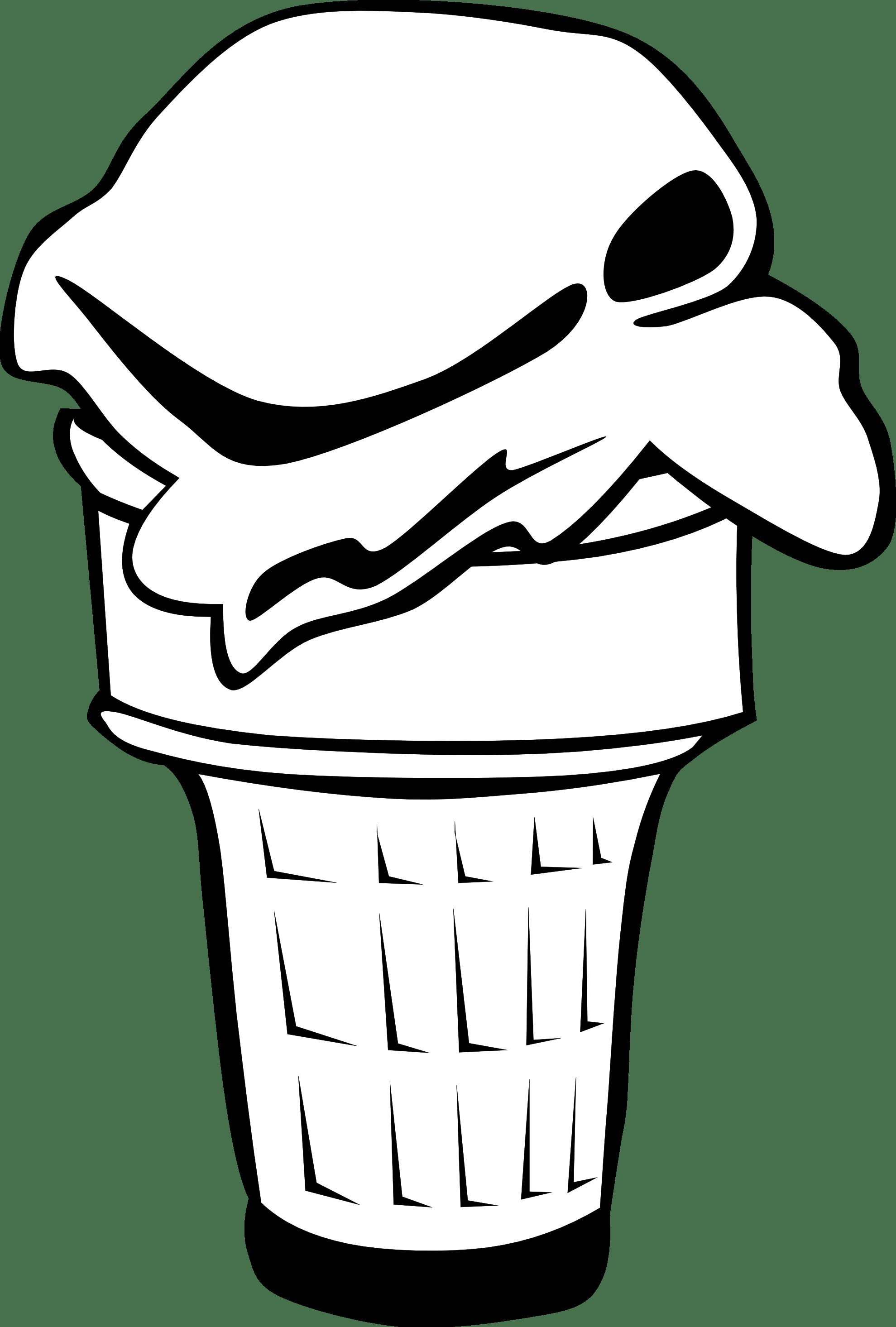 Ice Cream Clipart Black And White