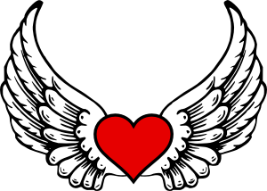 drawings easy wings hearts heart coloring simple pages cartoon wing cliparts clipart drawing don angel draw sketches printable sketch attribution