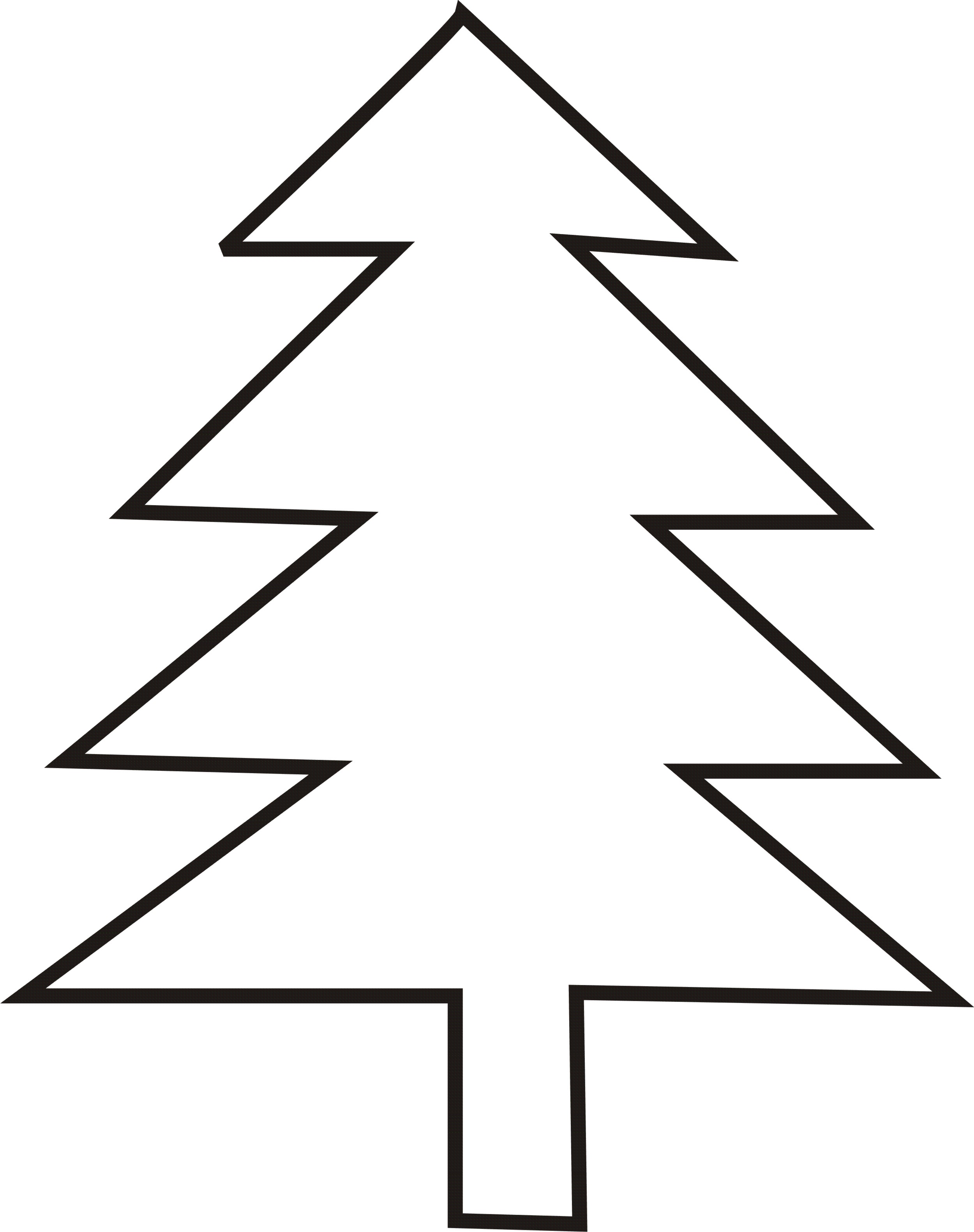Evergreen Tree Outline