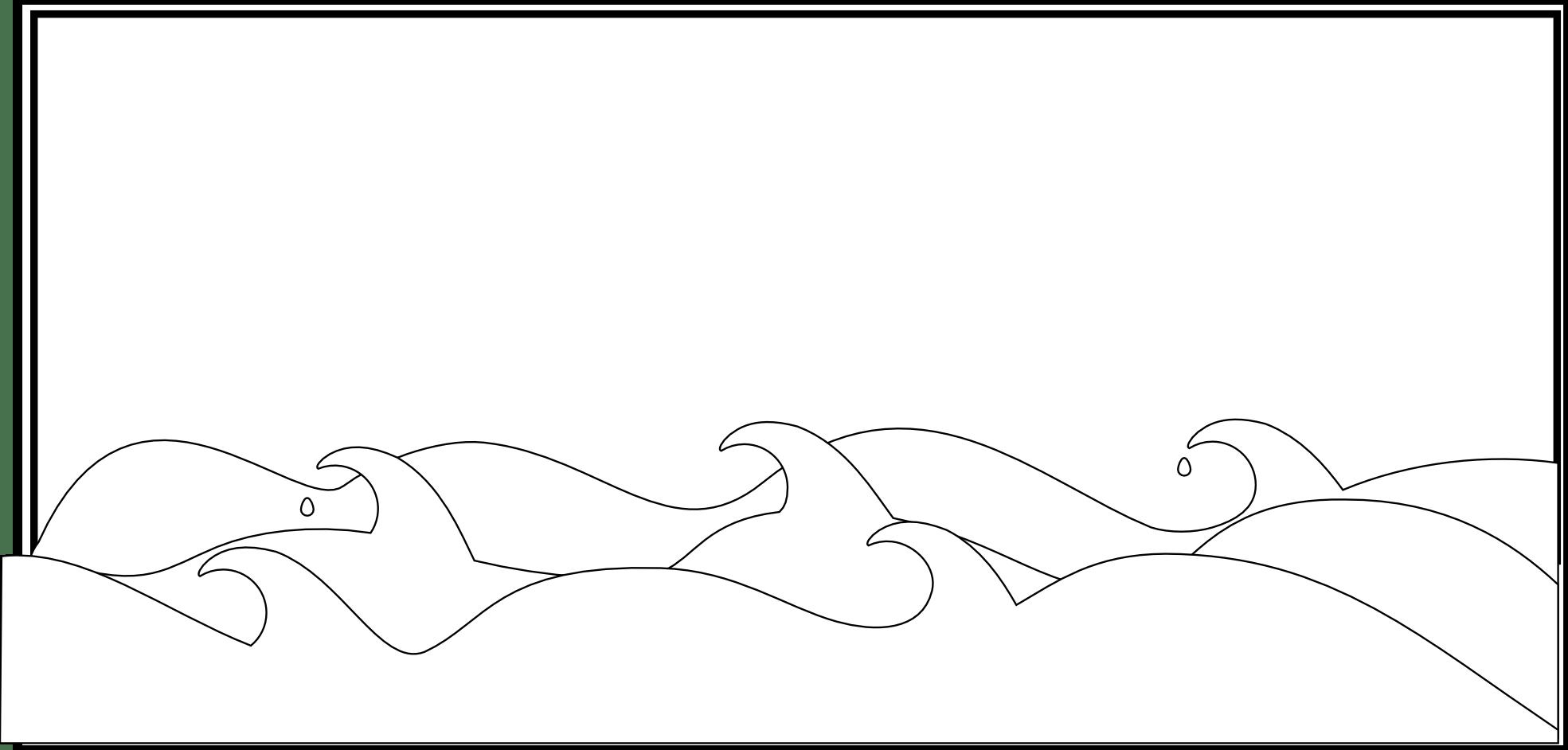 Sea Wave Cartoon Black And White
