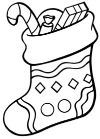 Christmas Stocking Drawings - Cliparts.co