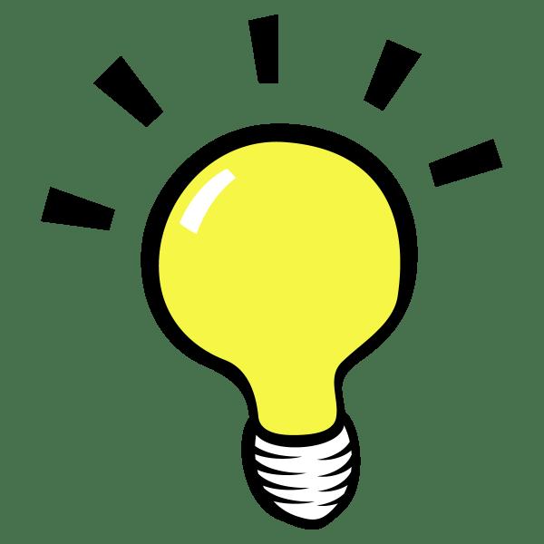 Thinking Light Bulb Clip Art