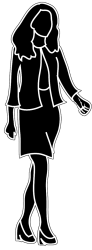 woman silhouette female walking business body clipart silhouettes outline handbag cliparts young human clip library icon clipartqueen