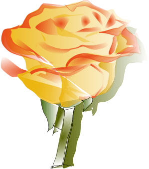 rose yellow clipart clip flower roses cliparts svg vector flora drawing orange yellowrose flowers designs valentine library drawings graphic computer
