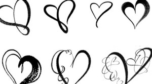 heart cool draw designs brush drawn drawing simple valentine easy clipart photoshop clip hand hearts tattoo tattoos graphics drawings fancy