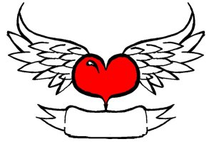heart hearts drawings wings cool clipart drawing draw cliparts designs easy crosses simple banner step trace clip tattoo roses clipartbest