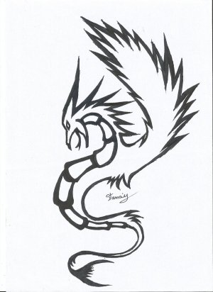 dragon tattoo simple tribal clipart easy drawings tattoos designs dragons cliparts library draw sketches clip link