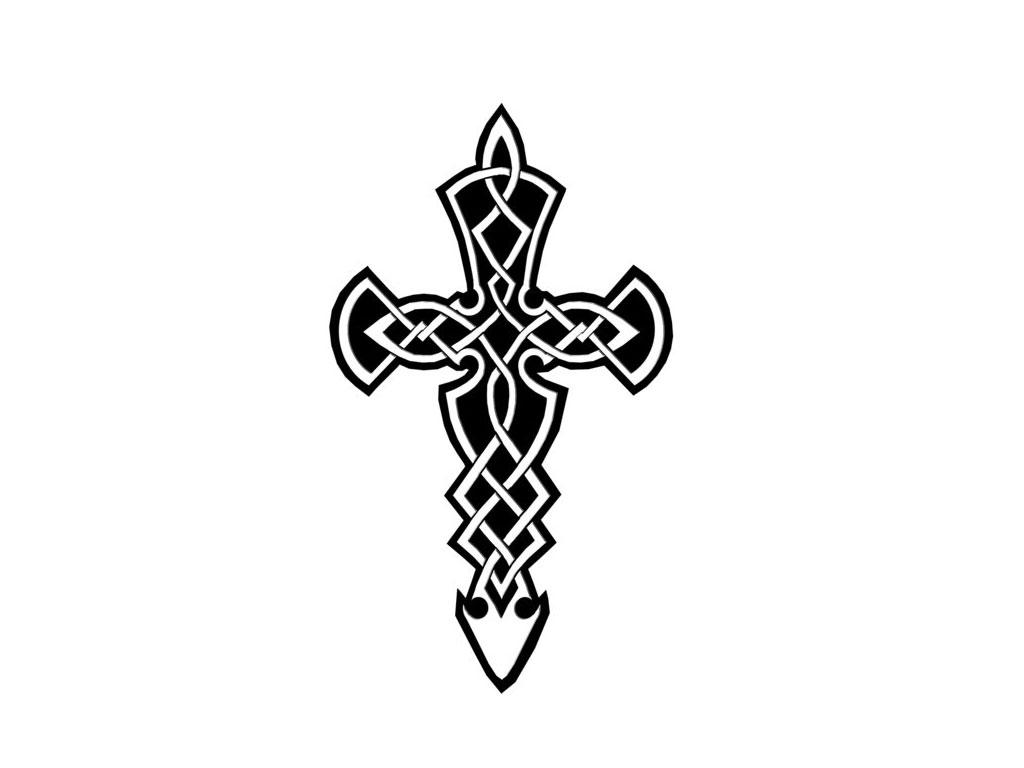 Black And White Cross Tattoos